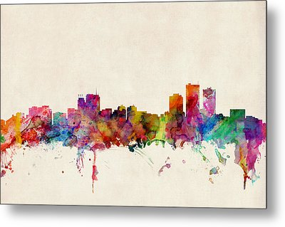 Anchorage Skyline Metal Print by Michael Tompsett