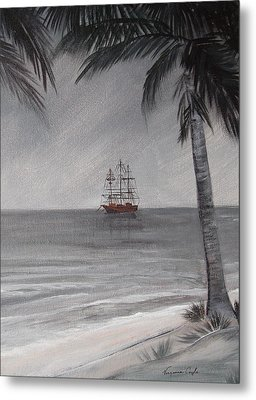 Anchored For The Night Metal Print