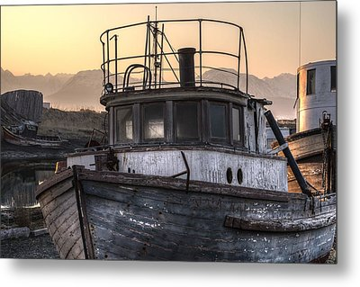 Anchored To The Past Metal Print by William Fields