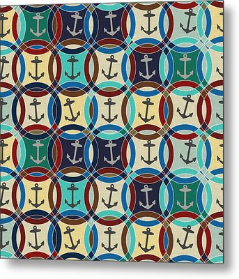 Anchors Metal Print by Sharon Turner