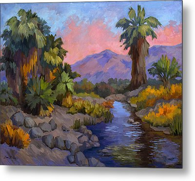 Ancient Cahuilla Fish Traps Metal Print by Diane McClary