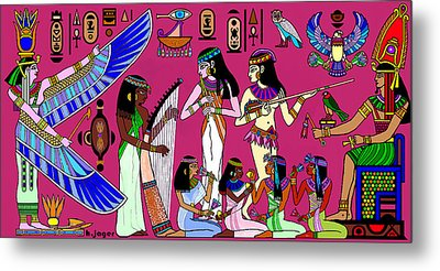 Ancient Egypt Splendor Metal Print by Hartmut Jager