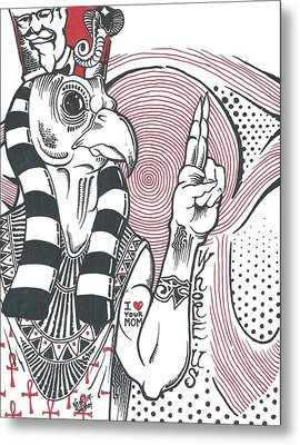 Ancient Egyptian Pop Culture Metal Print by Nick Smithey