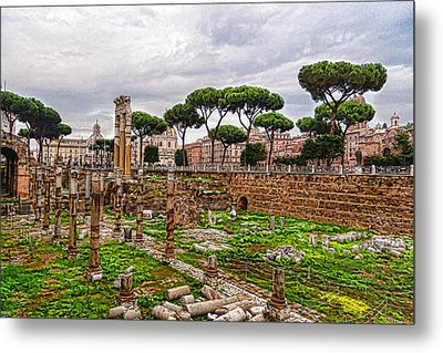 Ancient Forum Ruins - Impressions Of Rome Metal Print