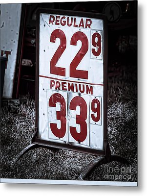 Ancient Gas Prices Metal Print