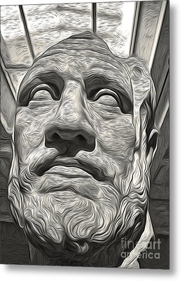 Ancient Greek Bust Metal Print by Gregory Dyer