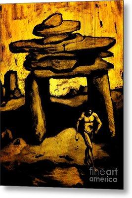 Ancient Grunge Metal Print