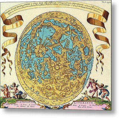 Ancient Map Of The World Metal Print by Gianfranco Weiss