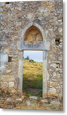 Ancient Monastary In Crete Metal Print