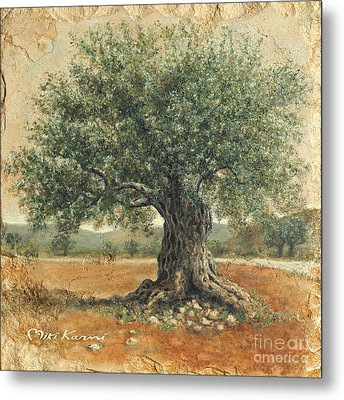 Ancient Olive Tree Metal Print
