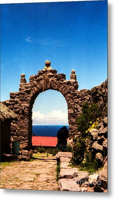 Ancient Portal Metal Print by Suzanne Luft