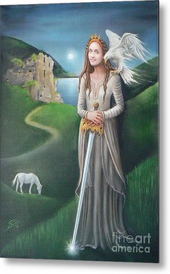 Metal Print featuring the painting Ancient Queen by S G