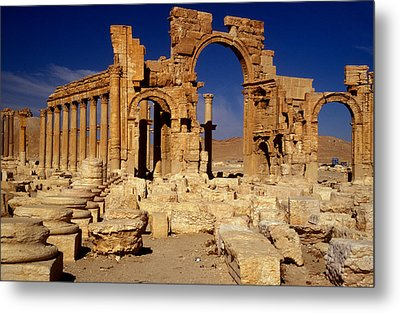 Ancient Roman City Of Palmyra, Syria Photo Metal Print