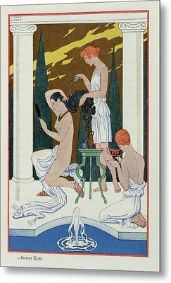 Ancient Rome Metal Print by Georges Barbier