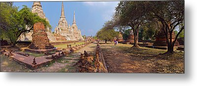 Ancient Ruins Of A Temple, Wat Phra Si Metal Print by Panoramic Images