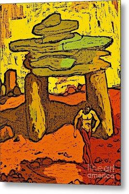 Ancient Sand Painting Metal Print