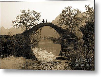 Ancient Stone Bridge Metal Print by King Wu
