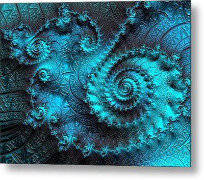 Ancient Verdigris -- Triptych 2 Of 3 Metal Print by Susan Maxwell Schmidt