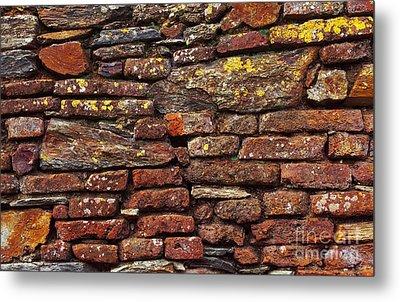 Ancient Wall Metal Print by Carlos Caetano