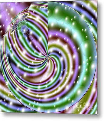 Metal Print featuring the digital art And He Called Them Stars by Luther Fine Art