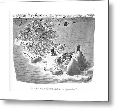 And How Does Everybody Want Their Eggs This Metal Print by Robert J. Day