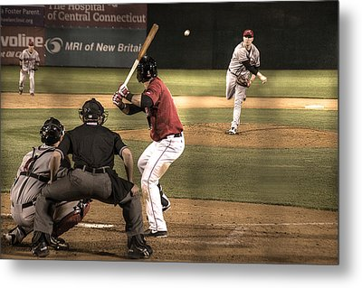 And Now The Pitch Metal Print by William Fields