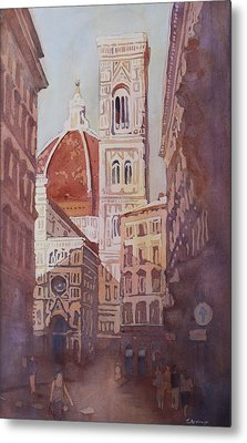 And Suddenly The Duomo Metal Print