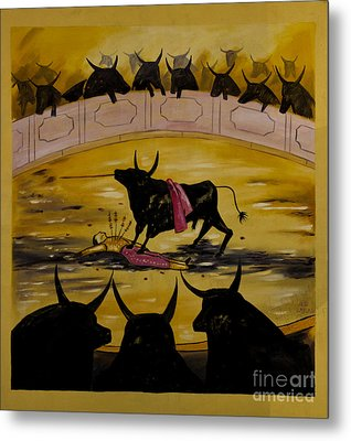 And The Crowd Goes Wild Metal Print by Al Bourassa