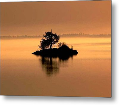 And The Fog Rolls In Metal Print by Larry Trupp