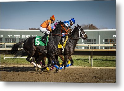 Metal Print featuring the photograph And They're Off #2 by Phil Abrams