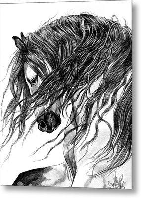 Andalusian Arabian Head Metal Print by Cheryl Poland