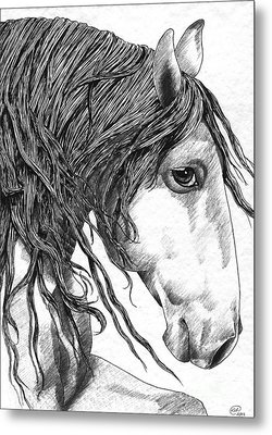 Andalusian Horse Metal Print by Kate Black