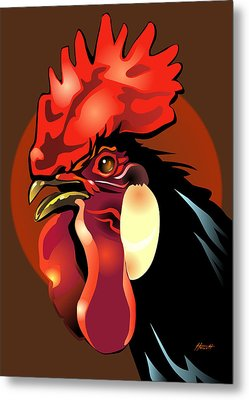 Andalusian Rooster 2 Metal Print by Patricia Howitt