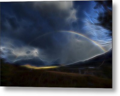 Metal Print featuring the digital art Andean Rainbow by William Horden