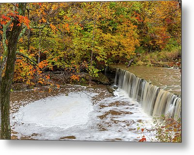 Anderson Falls On Fall Fork Of Clifty Metal Print by Chuck Haney
