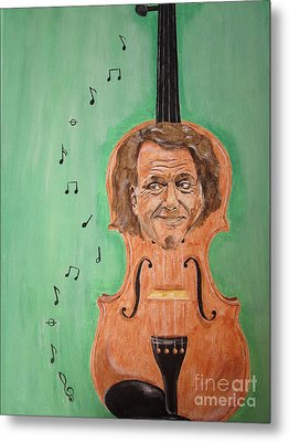 Metal Print featuring the painting Andre Rieu And His Violin by Jeepee Aero