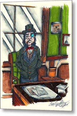 Andrew C. At His Desk Metal Print by Geoffrey Walker