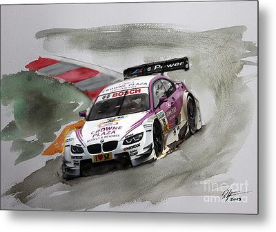 Andy Priaulx Bmw Dtm Metal Print by Roger Lighterness