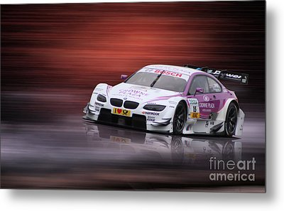 Andy Priaulx M3 Dtm 2012 Metal Print by Roger Lighterness