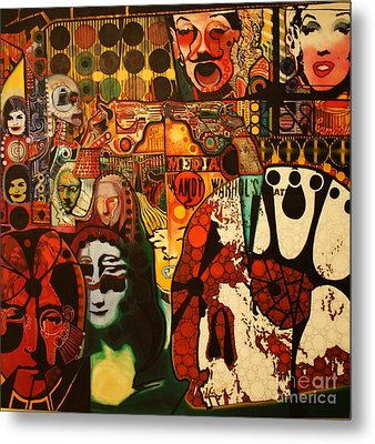 Andy Warhol Tribute 58  Metal Print by Michael Kulick