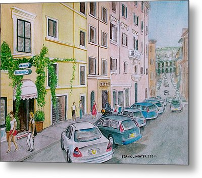 Anfiteatro Hotel Rome Italy Metal Print by Frank Hunter