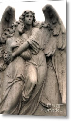 Angel Photography Guardian Angels Loving Embrace Metal Print