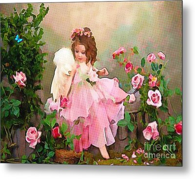 Angel And Baby  Metal Print by Catherine Lott