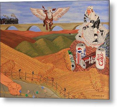 Angel Cow Metal Print by Mike Nahorniak