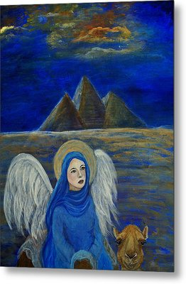 Angel From Eygpt Called Lapis Lazueli Metal Print by The Art With A Heart By Charlotte Phillips