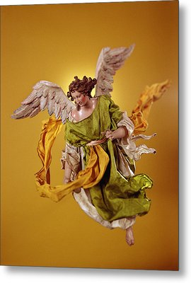 Angel, From The Christmas Creche And Tree Terracotta & Cloth Metal Print