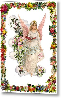 Angel Happy Holiday Metal Print