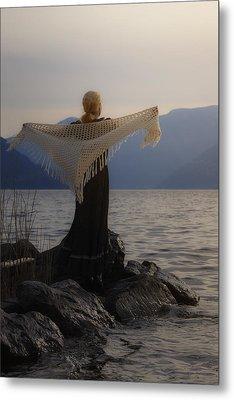 Angel In Sunset Metal Print by Joana Kruse