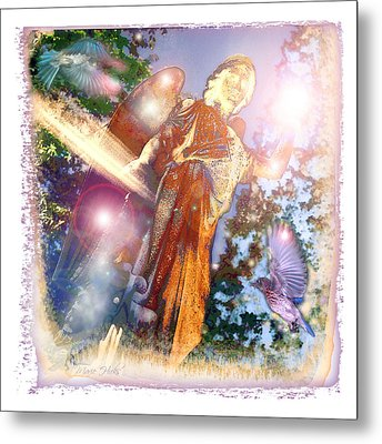 Metal Print featuring the photograph Angel Light by Marie Hicks