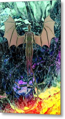 Metal Print featuring the digital art Angel by Matt Lindley